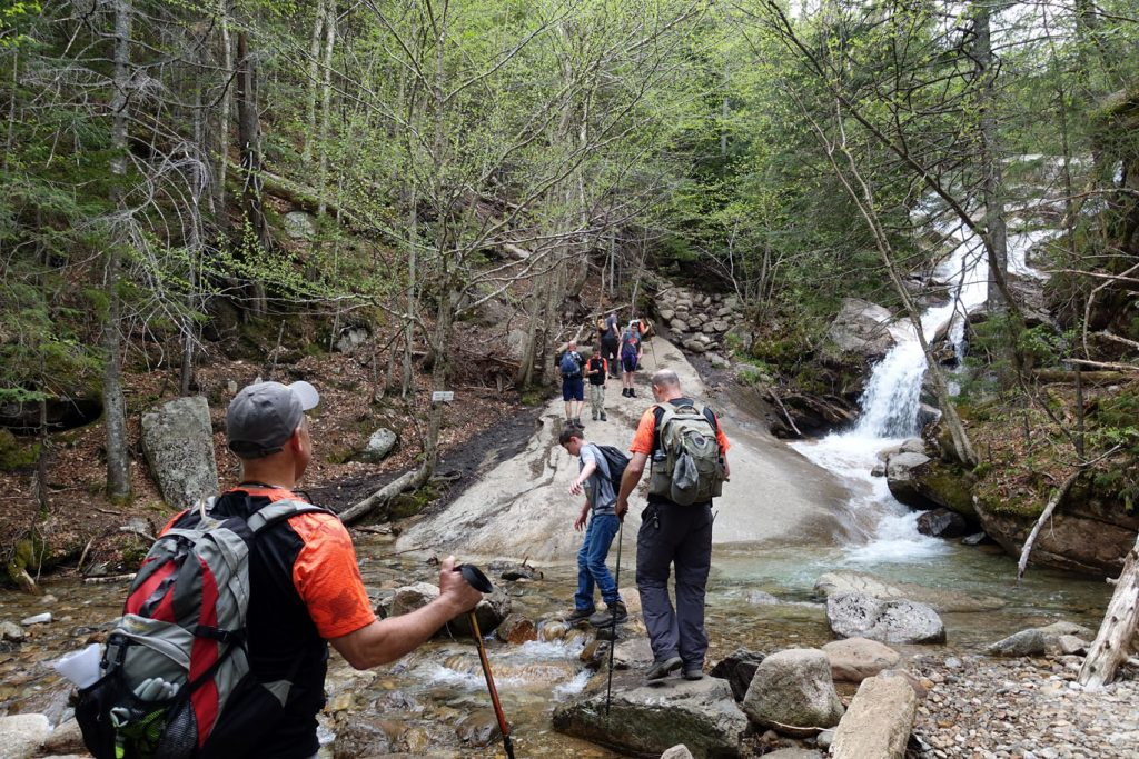 First major stream crossing on the way up to Little Haystack.