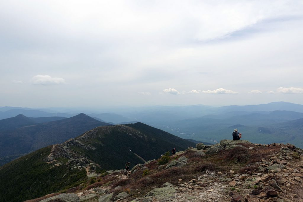 South from Little Haystack down Franconia Ridge