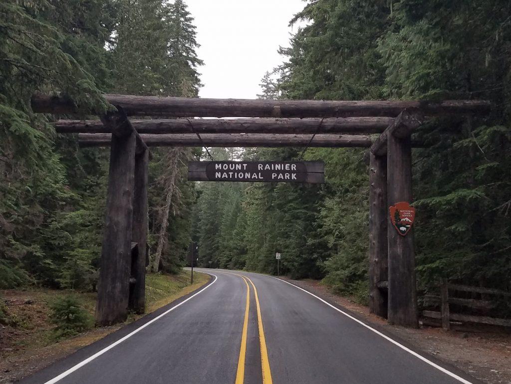 Entrance to Mt. Rainier National Park